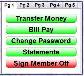 Perfect Pay Menu Example in Online Banking